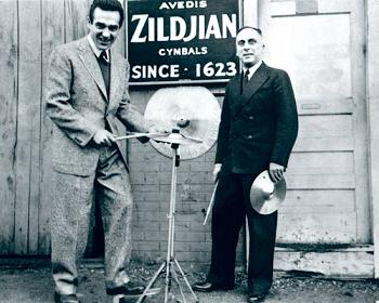 Gene Krupa and Avedis Zildjian