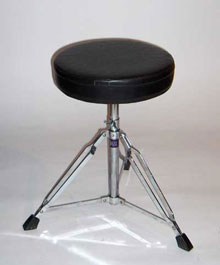 a drumset seat